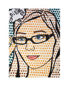 Have kids trace transparency of their face then use a ruler for pointillism