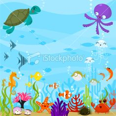 Under the sea Royalty Free Stock Vector Art Illustration