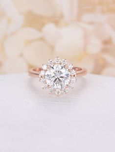 1.00ct Solitaire Engagement Ring 18k Rose Gold Filled Sterling Silver Proposal Ring gold Simple Rope Minimalist Wedding Ring Promise Ring