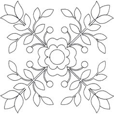Rose of Sharon Linework Quilting Wool Applique Patterns, Punch Needle Patterns, Embroidery Patterns Free, Hand Embroidery Designs, Applique Quilts, Embroidery Art, Applique Designs, Quilting Designs, Quilt Patterns