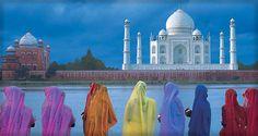 I <3 the colors of India! -- Taj Mahal