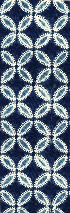 Shibori Studio Gallery || SHIPPO TSUNAGI Pattern | Awase Nui Shibori | Indigo dye - Aizome on Cotton