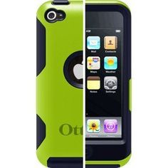 OtterBox Commuter Case for iPod Touch 4th Generation (Grey/Green) - Kid proof case for iPod touch 4g