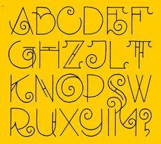 Alphabet based on the lettering of het Scheepvaart Huis.