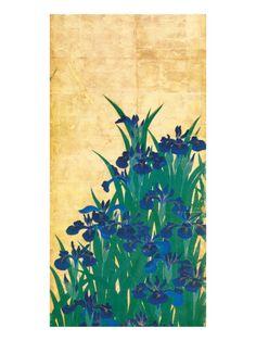 Irises, Japanese Estampe de qualité