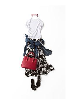 This skirt reminds me of Kapono Japan Fashion, Daily Fashion, Everyday Fashion, Love Fashion, Womens Fashion, Fashion Design, Mode Outfits, Casual Outfits, Fashion Outfits