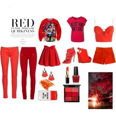 Quirky red by akanksha-mahajan on Polyvore featuring polyvore, fashion, style, Zimmermann, Sally&Circle, Emilio Pucci, Balmain, Le Temps Des Cerises, Chicwish, Ruthie Davis, Qupid, Pierre Hardy, BaubleBar, Kate Spade, MAC Cosmetics, Bobbi Brown Cosmetics and OPI
