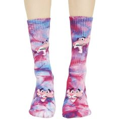 HUF HUF X Pink Panther Tie-Dye Socks (51 BRL) ❤ liked on Polyvore featuring intimates, hosiery, socks, tie dye socks, tie-dye socks, pink hosiery, huf and tie dyed socks