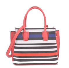 2016 Spring Collection Striped Spring Large Tote