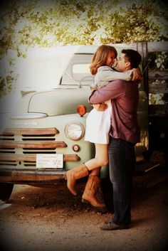 When a couple is in love, it's easy to capture the moment! #engagement #vintage #cowboyboots