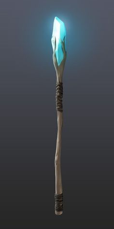 Staff by ~pmargacz on deviantART   Magic Staff   Wooden with a crystal on top   blue, magician, wizard weapon