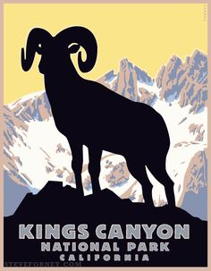 kings canyon national park poster - Google Search