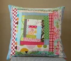 Might try to make a pillow like this with my nursery fabrics if I have time while Madeline sleeps :)