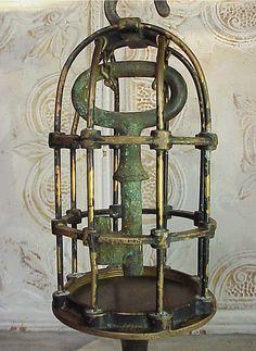 Industrial Machine Age Steampunk Caged Key Sculpture by RustySpoke, $125.00