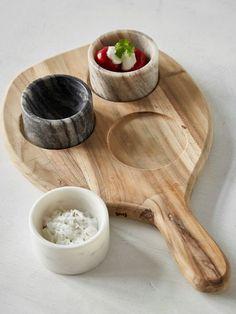 Teak and Marble Tapas Board #nordic #house #scandi #home #decor #marble #wood #tapas #tableware