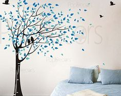 Cerezo flor de árbol de etiqueta de la pared pulgadas por PopDecors