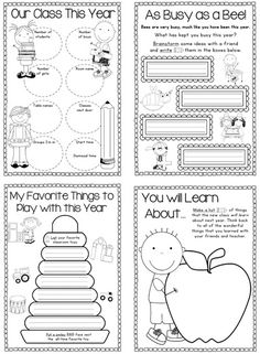 End of the Year Memory Book for K