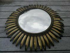 Vintage Mid Century French Sunburst Starburst Convex Mirror Charles Maison Era    eBay Convex Mirror, Sunburst Mirror, Star Flower, Mid Century Modern Design, Modern Interior Design, French, Ebay, Vintage, Modern Interior Decorating