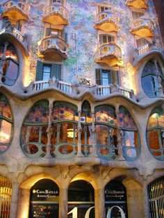 one of the Gaudi Houses in Barcelona