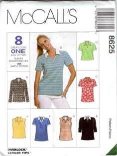 McCall's Sewing Pattern 8625 Misses' V-neck Shirts - 8 St... https://www.amazon.com/dp/B005WKF5TY/ref=cm_sw_r_pi_dp_x_wNp5ybTAM2G78