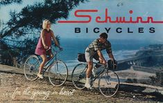 A Schwinn bicycles buyer's catalog, I had a blue 3 sp Co-Ed, and a 5 sp Collegiate. Still have the Collegiate! Old Steam Train, Bicycle Print, Bike Wheel, Natural Latex, Classic Bikes, Vintage Advertisements, Bicycles, Schwinn Bikes, Catalog