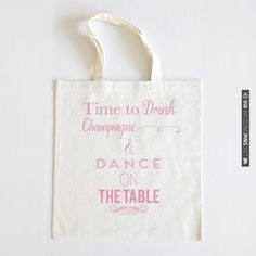 Champagne Dancing Tote NEW!   CHECK OUT MORE IDEAS AT WEDDINGPINS.NET   #weddings #weddinggear #weddingshopping #shopping