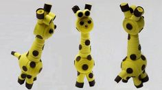 How to make a 3D quilling giraffe quilling animal DIY (tutorial + free p...