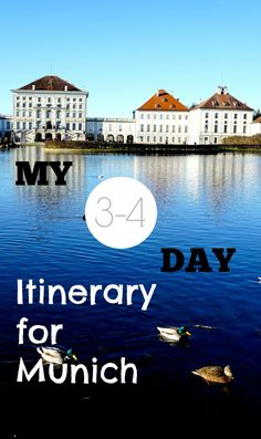 Start with a walking tour. Three to four day itinerary for Munich.