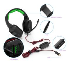 Virtual 7.1 Gaming Headset for PS4  Iphone  Ipad  Smartphone  Tablet  MacXBox One with LED light Stereo gaming headset
