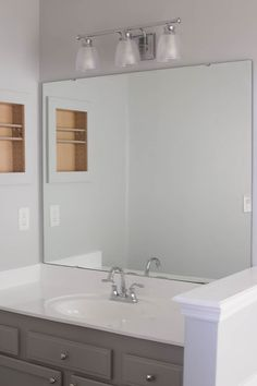 Diy Bathroom Mirror Storage Case – Page 49 – Shirley Diy Mirror Frame Bathroom, Small Bathroom, Bathroom Plants, Bathroom Renos, Bathroom Ideas, Bathroom Cabinets, Bathroom Renovations, Bathrooms, Glass Shower Doors