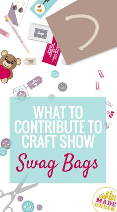 There are a few things to think about to be sure your SWAG BAG contribution gets noticed and gets you a return on investment (SALES! Here are 10 questions to ask yourself before adding to a swag bag: Craft Booth Displays, Craft Booths, Retail Displays, Shop Displays, Merchandising Displays, Window Displays, Display Ideas, Craft Business, Business Tips