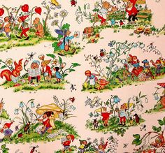The Gnome Story by Holland Fabric House, via Flickr