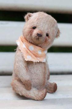 Bear Ki-ki by Irina Arkhipova Teddy Toys, Warm Fuzzies, Bear Toy, Old Toys, Cute Dolls, Handmade Toys, Teddy Bears, Fur Babies, Dog Cat