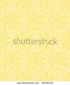 Seamless wall-paper with abstract pattern, yellow. The pattern consists of curls, leaves, points and flexible lines. Gift paper, fabric, a background for cards, etc.