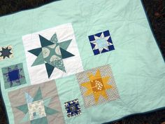 great baby quilt with lots of negative space
