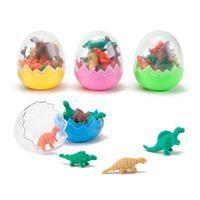 Dinosaur Eggs with 8 Mini Dino Erasers, set of 40