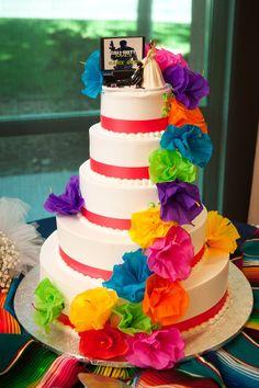 Mexican Wedding Fiesta Cake | Mexican Inspired #Wedding Cake | Algo funny..jaja...