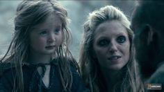 floki, helga and their daughter vikings