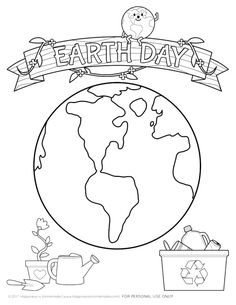 Celebrate Earth Month with our favorite Earth Day kids crafts and Earth Day coloring pages! via @hiHomemadeBlog @GreenWorksClean #ad #ILoveGreenWorks