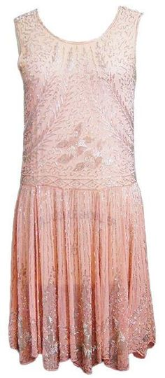 Soft ombre 1920s dress via 1stdibs.com