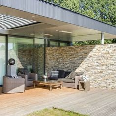 Patio Roof, Backyard Patio, House Plans With Photos, Patio Seating, Outdoor Living Areas, Pergola Plans, Pool Houses, House Front, Modern House Design