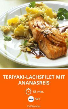 Teriyaki-Lachsfilet mit Ananasreis - smarter - Kalorien: 571 kcal - Zeit: 55 Min. | eatsmarter.de