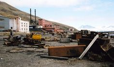 Pyramiden is an abandoned Russian settlement and coal mining community on the archipelago of Svalbard, Norway. Sweden founded if in 1919 and sold it to the Soviet Union in 1927. It's name comes from the pyramid-shaped mountains near the town