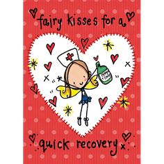 Fairy kisses for a quick recovery! - Juicy Lucy Designs