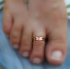 Toe Rings/Above the Knuckle Rings 14K Rose Gold by RingaThing