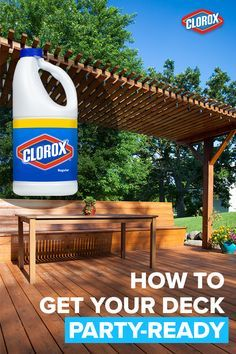 An outdoor deck can make the perfect space for an outdoor party this summer. But, weathered wood with moss and mildew stains can be unsightly, slippery and dangerous. Get your deck ready for the party with these quick and easy tips from Clorox®.