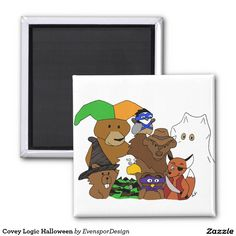 Covey Logic Halloween 2 Inch Square Magnet
