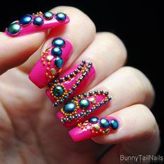 Saffron 34: BunnyTailNails: Sanna Tara Nail Art – Saffron 34 + 47 Pretty in Pink