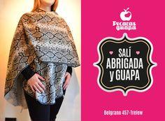 Poncho estampa reptil, de lana! En liquidación Otoño! #Trelew #Pecarasguapa #otoño #liquidacion #abrigo #tendencias #2015 #UnaStudio