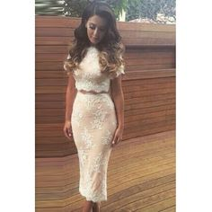 Beautiful Two Piece Lace Dr..
